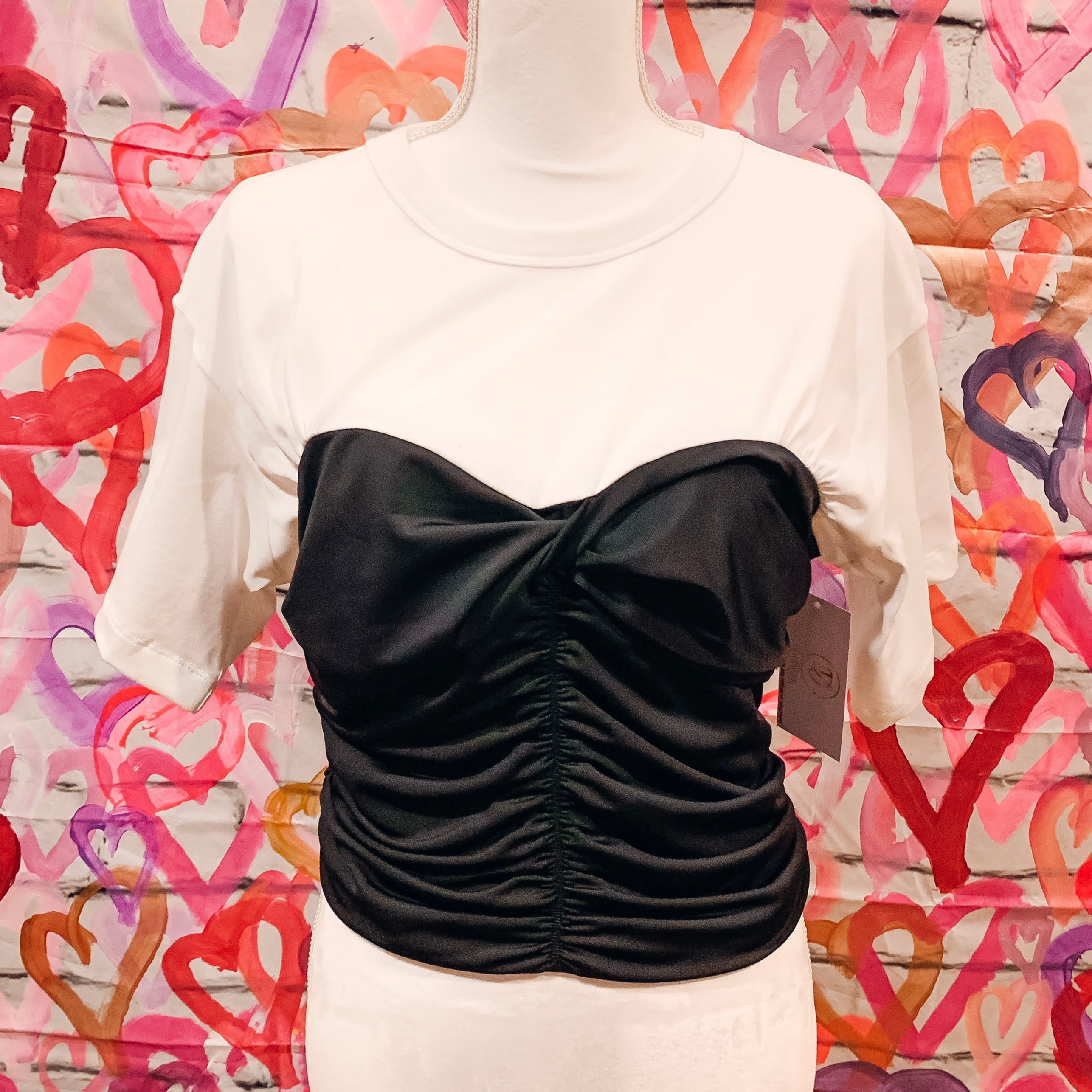 T-Shirt Ruched Top