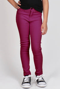 Little's Plum Stretch Pants