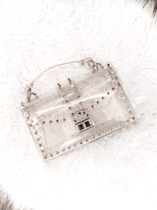 Clear Studded Purse