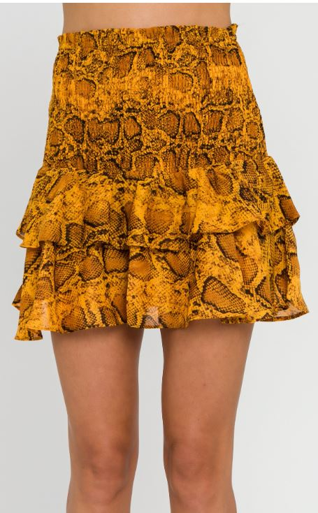 Python Inspired Smocked Skirt