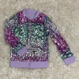 Little's Reversible Sequin Bomber