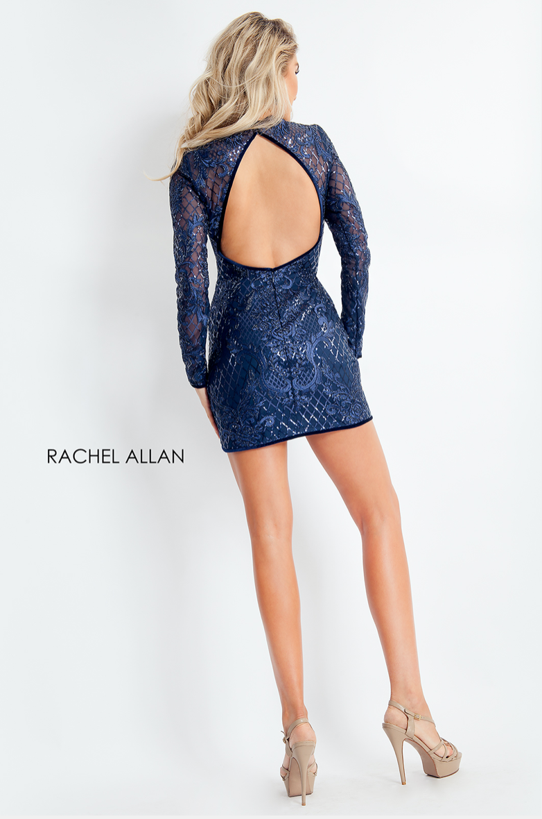 Rachel Allan Style 4665 Cut Out Fitted Mini
