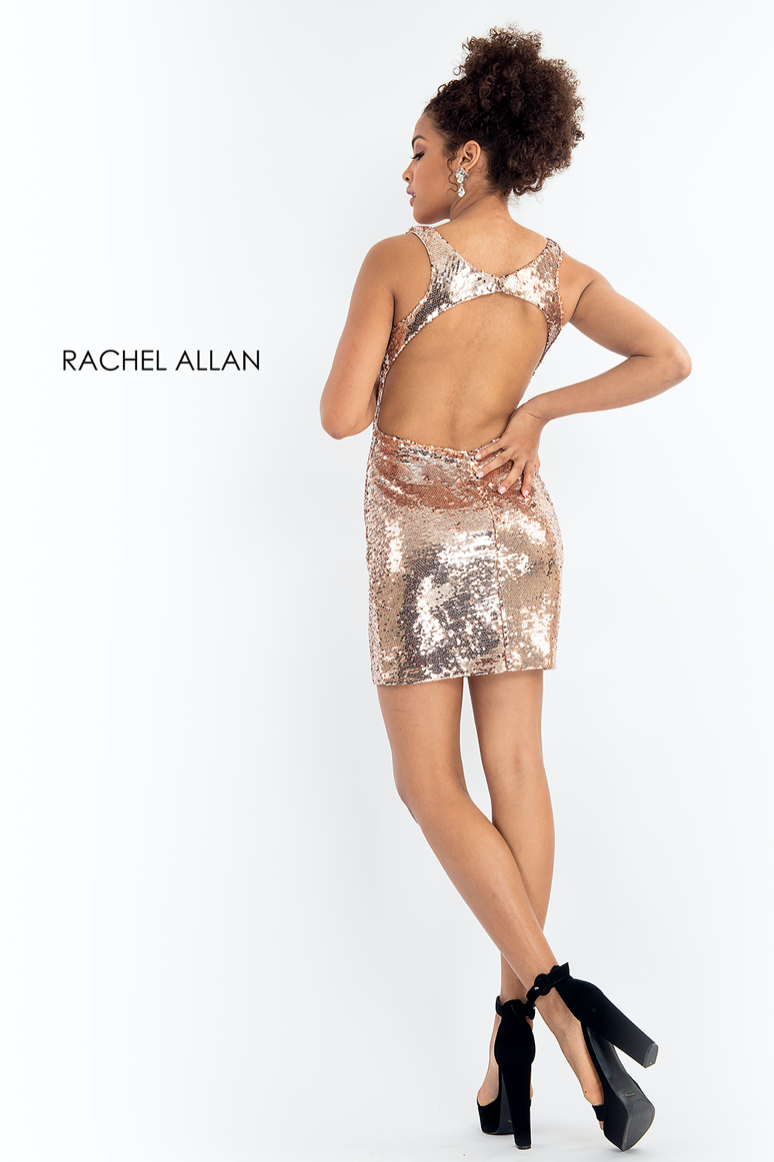 Rachel Allan Style 4630 V-Neck Sequin Fitted Dress with Jacket