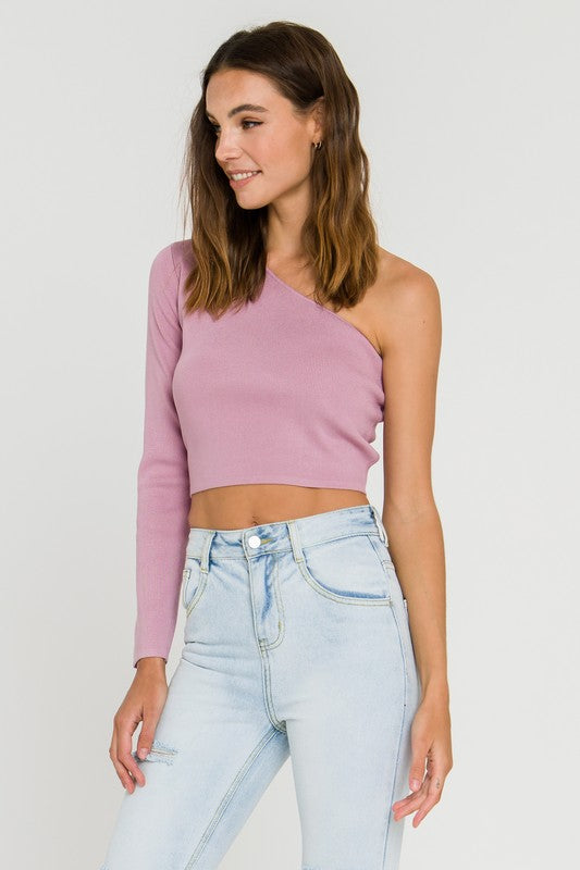 One Shoulder Asymmetrical Top