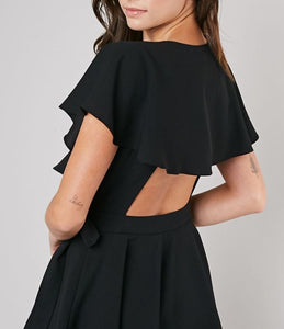 Wrap Playsuit Black