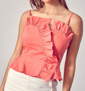 Strappy Ruffle Top