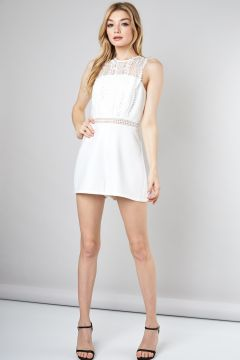 Lace Sleeveless Romper