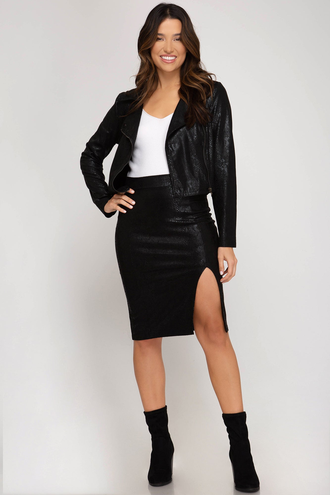 Black Suede Biker Jacket