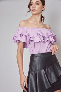 Ruffle Off Shoulder Top