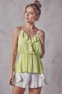 Lemon cross back spaghetti strap top