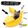Banana Shape Cute Cat Bed 🍌 Warm Sleeping Nest ×5 Colors 💤 - TopCats.Store