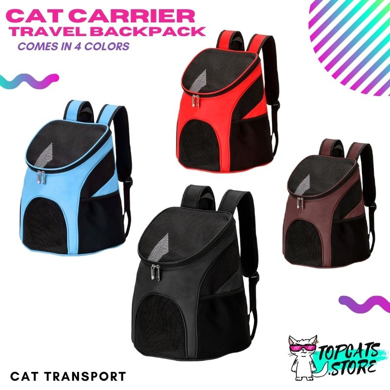 Cat Carrier Travel Backpack ×4 Colors! 🐾 - TopCats.Store
