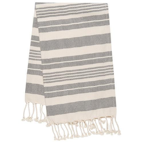 Black Striped Kitchen Hand Towel-SproutSouth-Kitchen