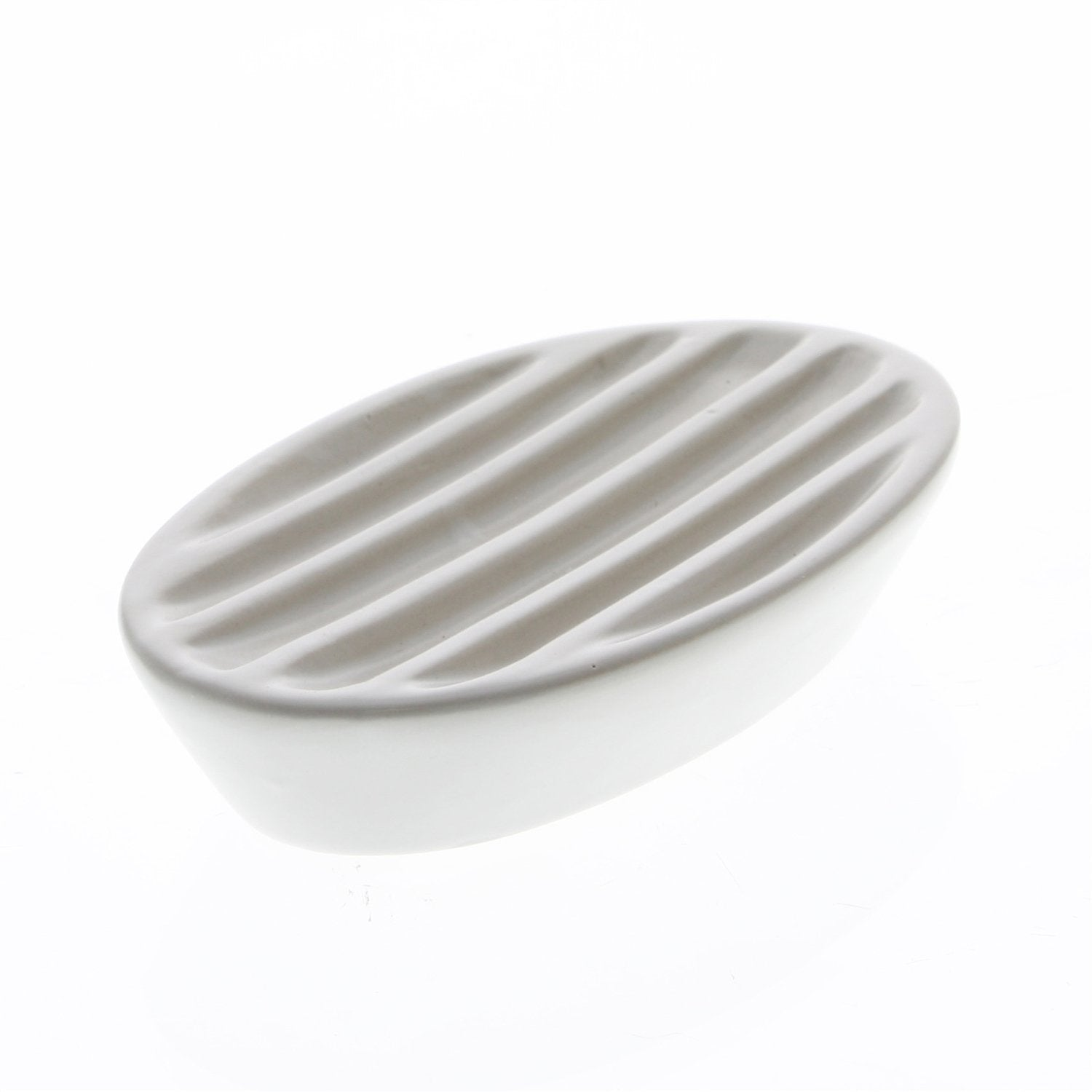 Ceramic White Soap Dish-SproutSouth-Kitchen