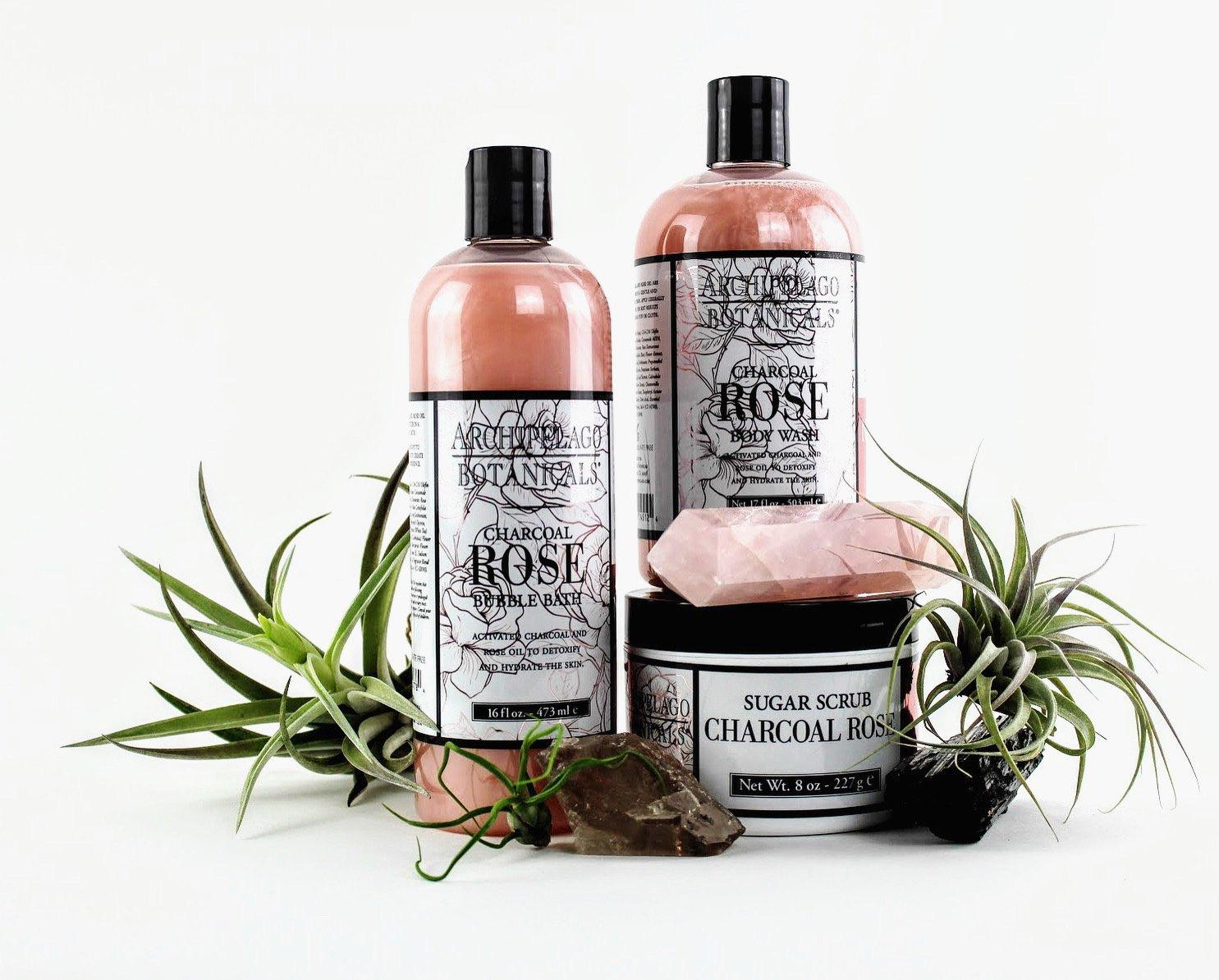 Charcoal Rose Bubble Bath-SproutSouth-Skin Care