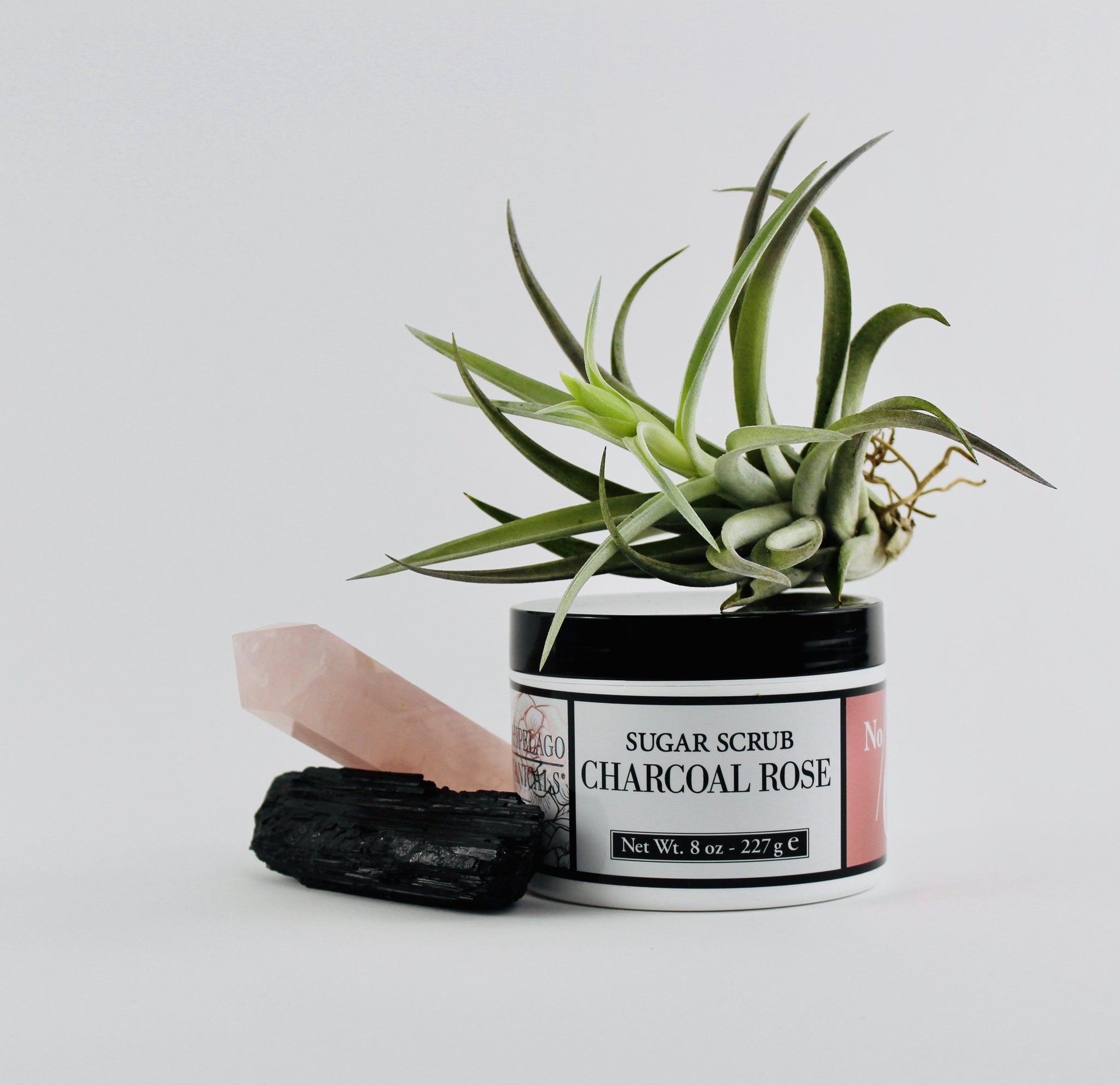 Charcoal Rose Sugar Scrub-SproutSouth-Skin Care