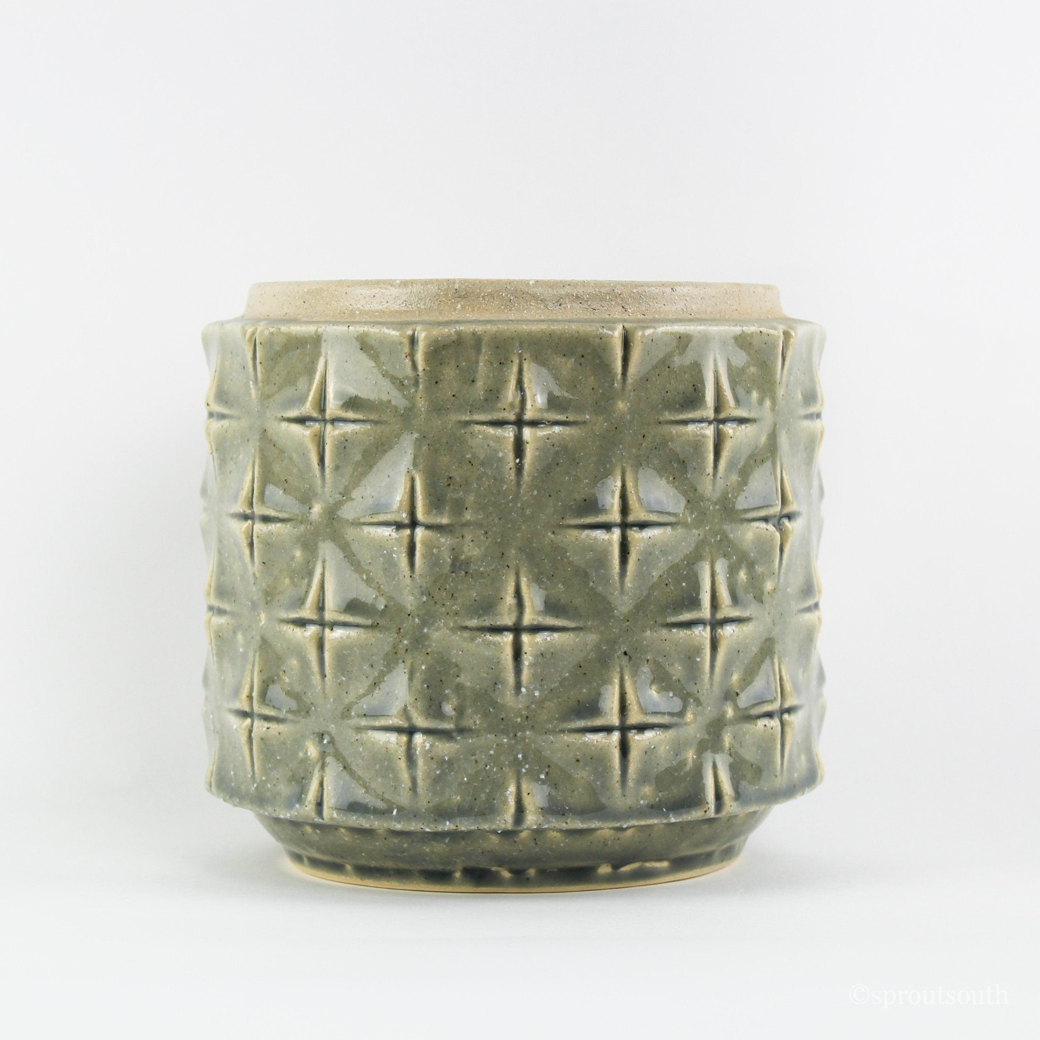 Geometric Large Green Planter-SproutSouth-Planter
