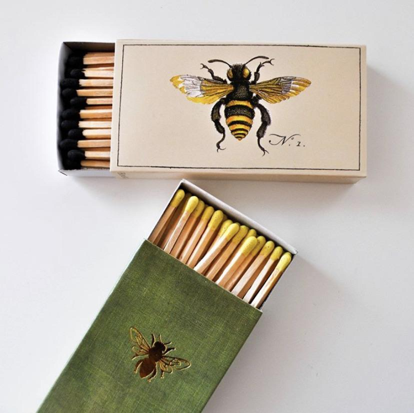 Gold Tipped HoneyBee Matches-SproutSouth-Matches