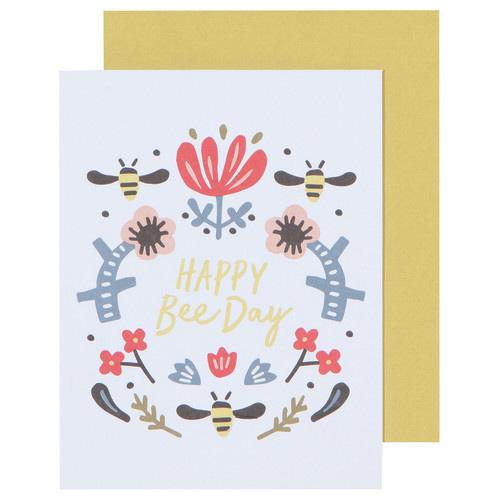 Happy Bee Day Greeting Card-SproutSouth-Stationary