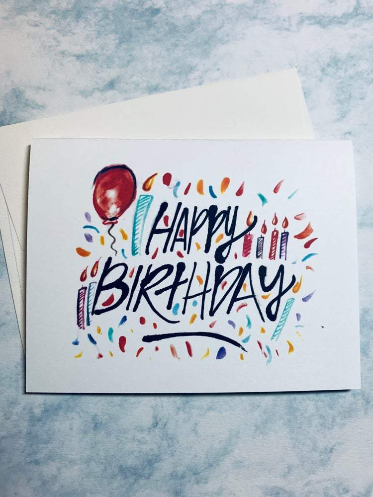 """Happy Birthday"" Greeting Card Stationary B. Coyne"