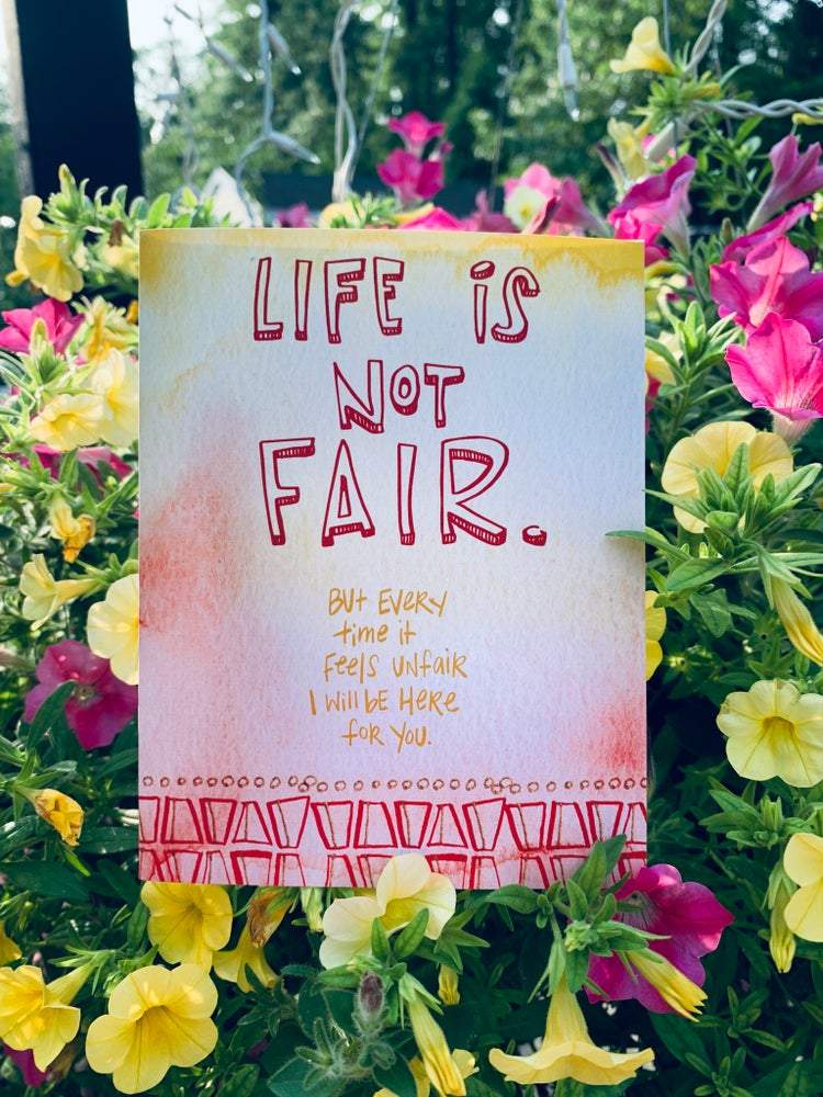 """Life's Not Fair"" Greeting Card Stationary B. Coyne"
