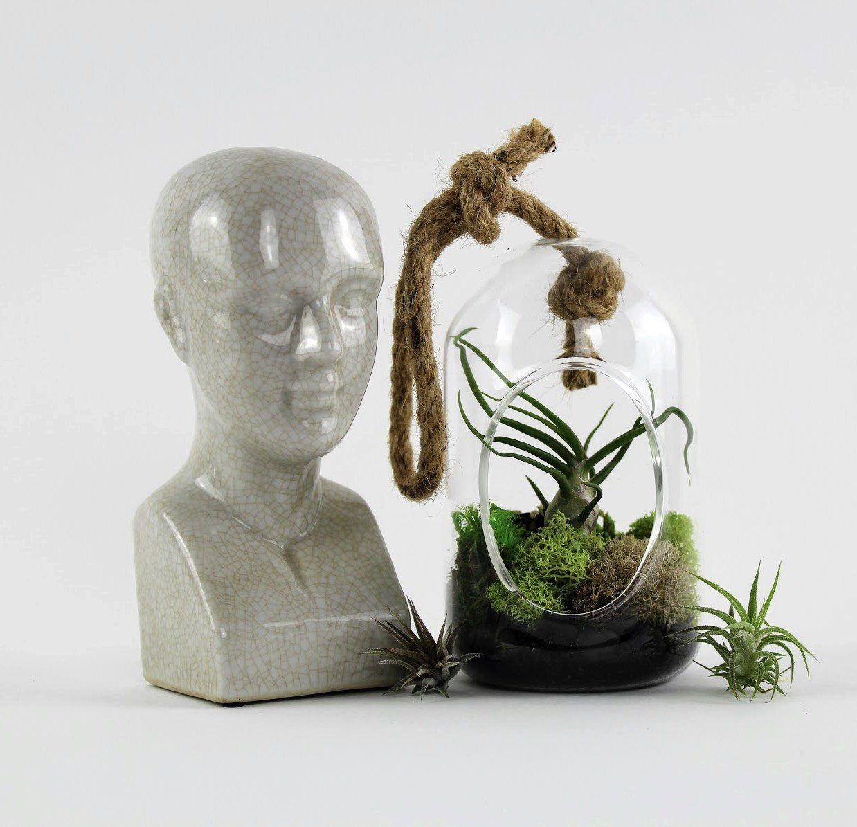 Phrenology Head Sculpture-SproutSouth-Home Goods