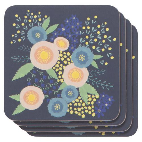 Rose Drink Coaster Set [4]-SproutSouth-Kitchen
