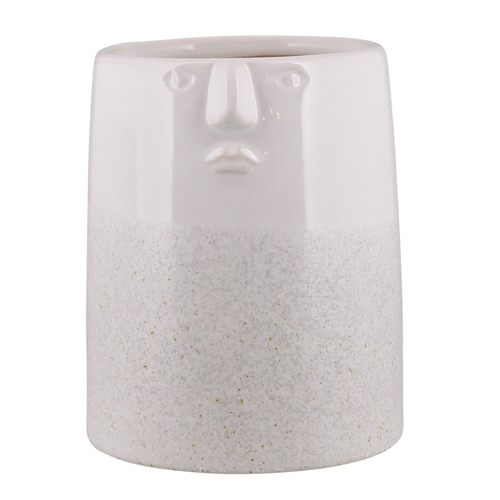 Smiling Face Ceramic Planter-SproutSouth-Planter