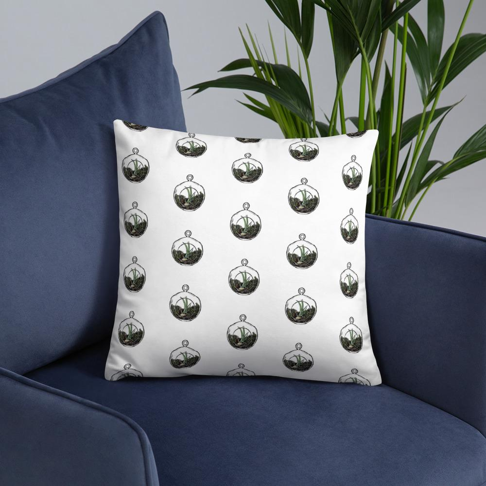 Terrarium Throw Pillow-SproutSouth-Throw Pillow
