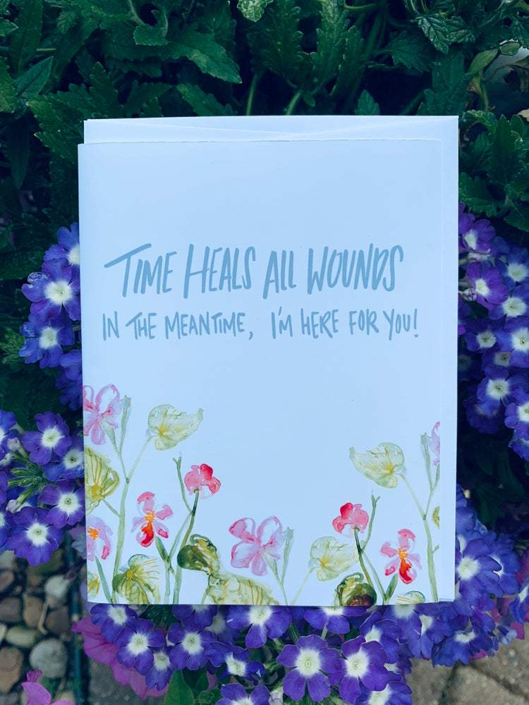 """Time Heals All Wounds"" Greeting Card Stationary B. Coyne"