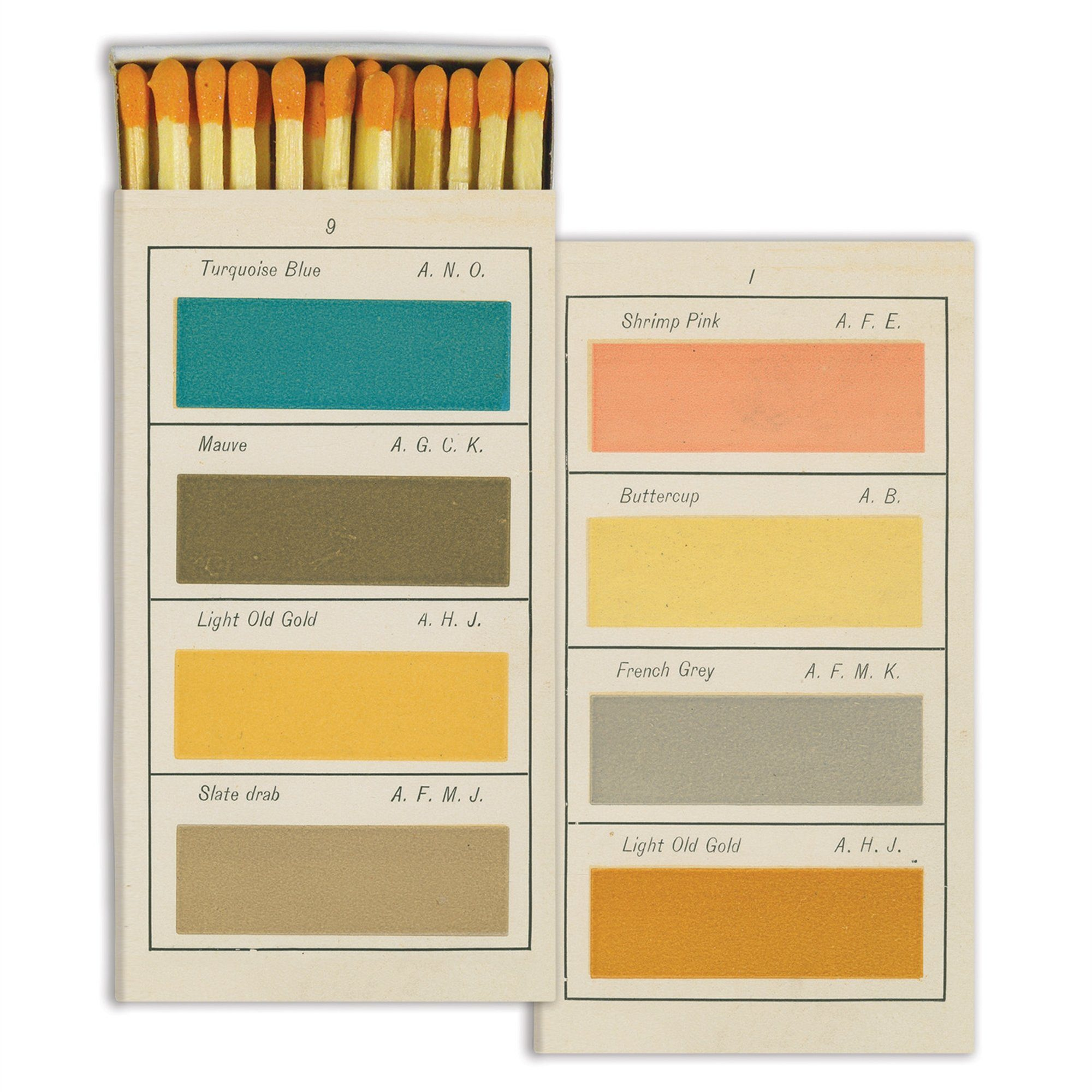 Watercolor Paint Swatch Matchbox-SproutSouth-Matches