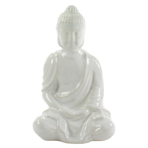 White Buddha Statue-SproutSouth-Home Goods