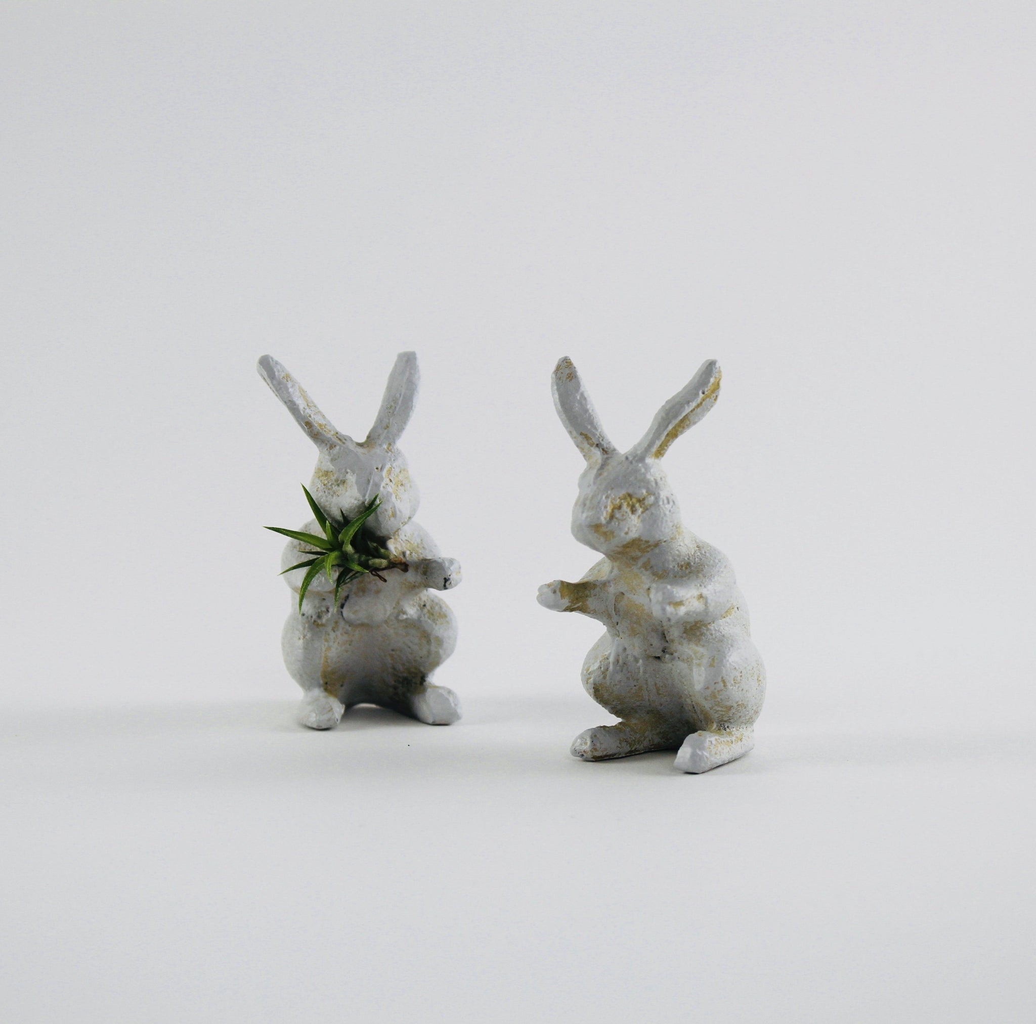 White Rabbit Tiny Garden Statue-SproutSouth-Terrarium Kit