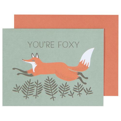 You're Foxy Greeting Card-SproutSouth-Stationary