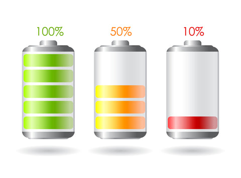 rechargeable battery, battery charge levels