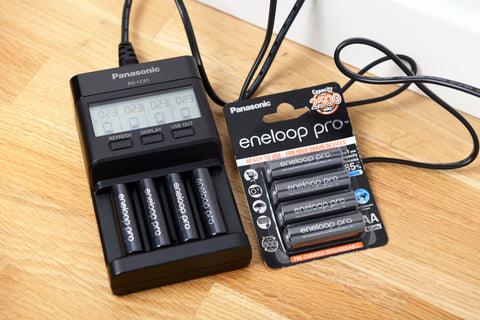 rechargeable batteries, eneloop battery charger