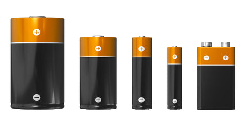 Different battery sizes, Big 5 batteries