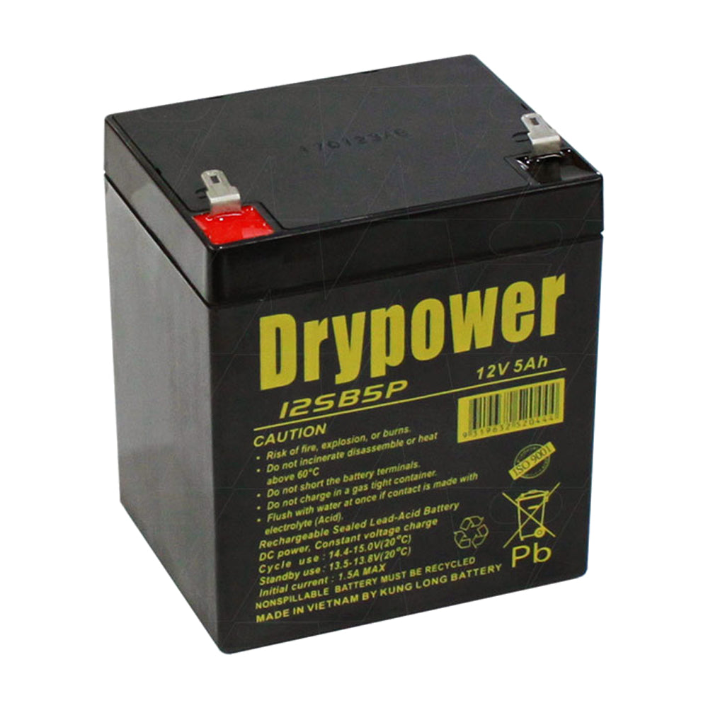 Drypower 12SB5P 12V 5Ah SLA Battery