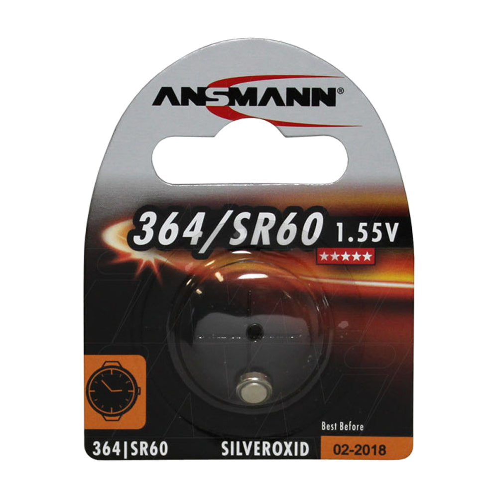 Ansmann SR60-364 Silver Oxide 1.55V 12mAh Watch Cell Battery