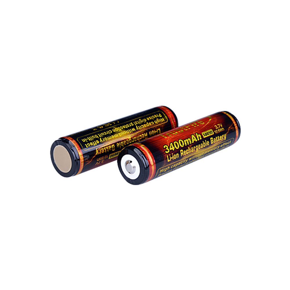 Trustfire 18650 3.7V 3400mAh Li-ion Battery C-W PCB Flat Top