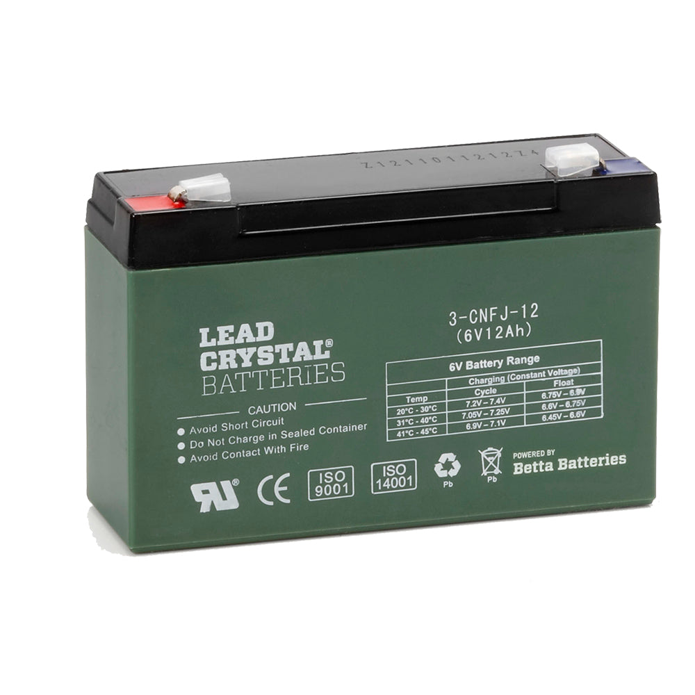 3-CNFJ-12 6V 12Ah Lead Crystal Deep Cycle Battery