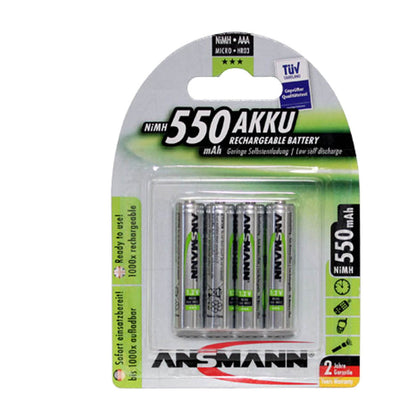 Ansmann AAA Bulk 1.2V 550mAh NiMH Raised Button LSD Type