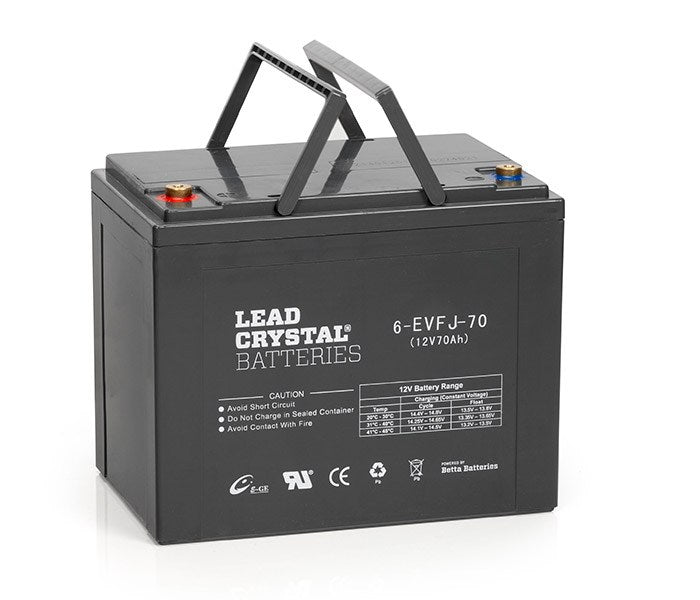 6-EVFJ-70 12V Ah Lead Crystal Deep Cycle Battery