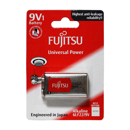 Fujitsu Universal Power 6LF22 9V size alkaline battery
