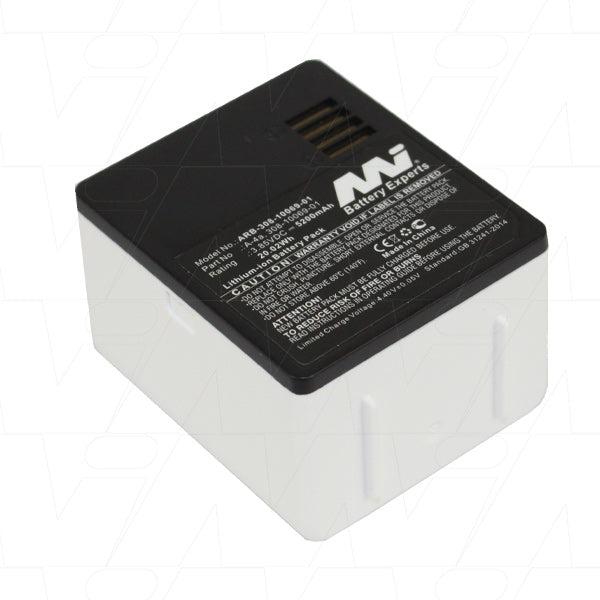 3.85V 5200mAh LiIon battery suitable for Arlo/Netgear Pro & Pro 2 Security Cameras