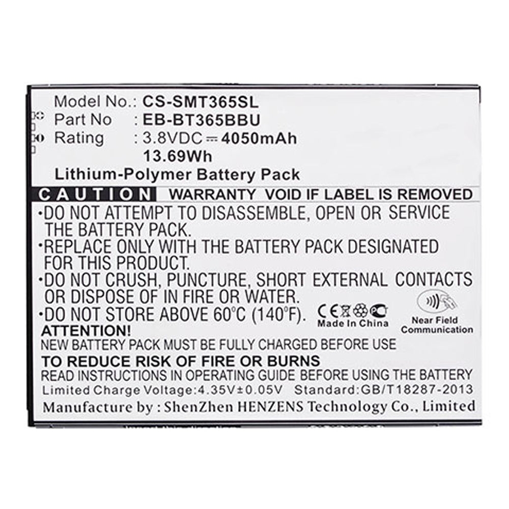 Stryka Battery to suit SAMSUNG Galaxy Active 3.8V 4050mAh Li-Pol
