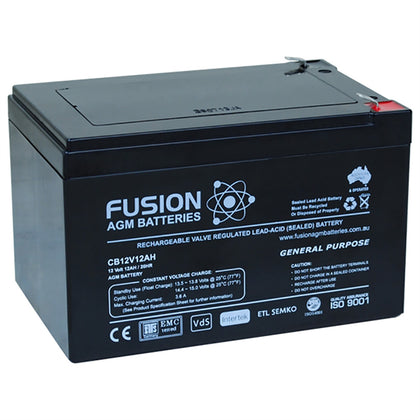 Fusion 12V 12Ah General Purpose AGM Battery