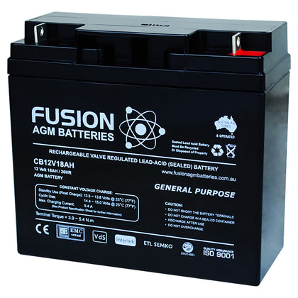 Fusion 12V 18Ah General Purpose AGM Battery