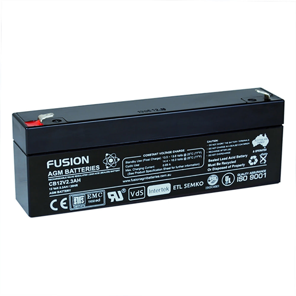 Fusion 12V 2.3Ah General Purpose AGM Battery