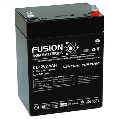 Fusion 12V 2.9Ah General Purpose AGM Battery